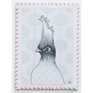 Turaco Hirsute- 7.5cm x 10.5cm - Vendu