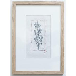 Tabouret des champs - 7.5cm x 13cm +encadrement en chêne - 110€