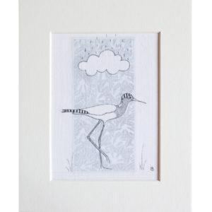 Tranquillité sous nuage - 9.5cm x13.5cm + passe-partout - 70€